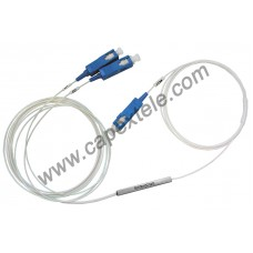 PLC Splitter 1x2 TX1260nm-1650nm SC/UPC or SC/APC (MT)